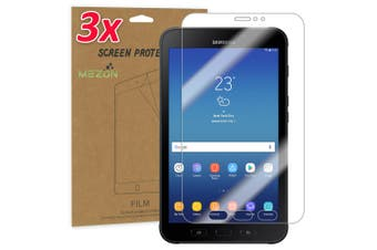 """[3 Pack] Samsung Galaxy Tab Active 2 8.0"""" Ultra Clear Film Screen Protector by MEZON (SM-T390, T395, Clear)"""
