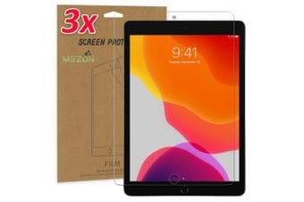 """[3 Pack] Apple iPad 10.2"""" 2019 Ultra Clear Film Screen Protector by MEZON – Face ID Compatible, Case and Pencil Friendly (iPad 10.2"""", Clear)"""