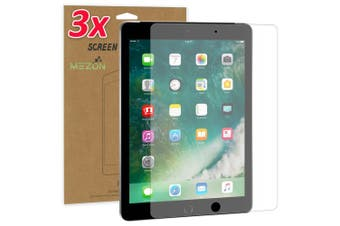 """[3 Pack] Apple iPad 9.7"""" Ultra Clear Film Screen Protector by MEZON – Face ID Compatible, Case and Pencil Friendly (iPad 9.7"""", Clear)"""
