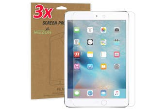 """[3 Pack] Apple iPad Mini 7.9"""" Ultra Clear Film Screen Protector by MEZON – Face ID Compatible, Case and Pencil Friendly (iPad Mini 7.9"""", Clear)"""