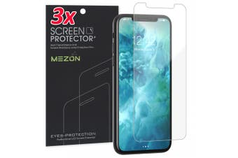 """[3 Pack] Apple iPhone XR (6.1"""") Ultra Clear Screen Protector Film by MEZON – Case Friendly, Shock Absorption (iPhone XR, Clear)"""