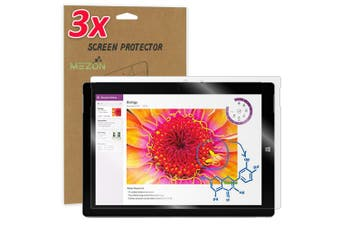 """[3 Pack] MEZON Ultra Clear Film Screen Protector for Microsoft Surface 3 (10.8"""") – Case and Surface Pen Friendly, Shock Absorption"""