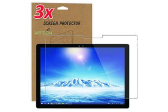 """[3 Pack] Microsoft Surface Pro 7 (12.3"""") Ultra Clear Film Screen Protector by MEZON – Case and Surface Pen Friendly, Shock Absorption"""