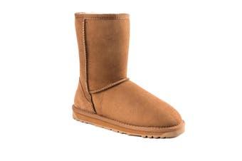 OZWEAR UGG Womens Classic Short Boots (Water Resistant) (Chestnut,EU40)
