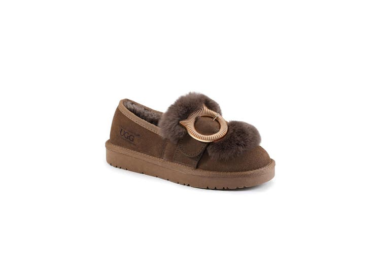 OZWEAR UGG Kitty Bucle Loafer (Camel,EU35)