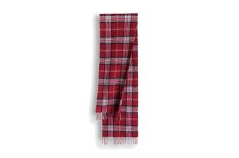 OZWEAR 100% Wool Scarf (Red Check,OZWW034)
