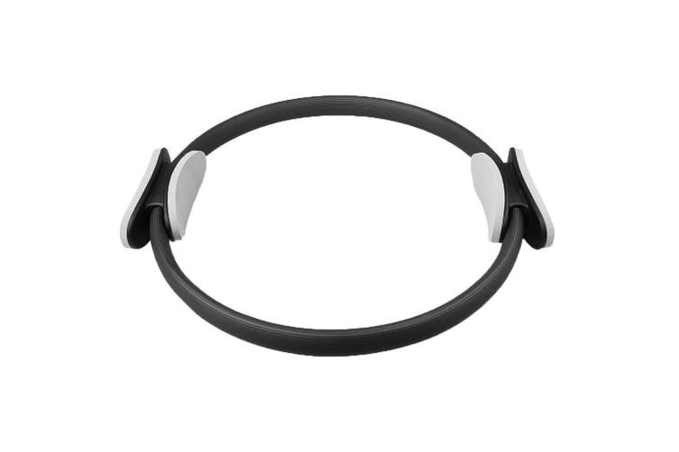 40Cm Pilates Ring Yoga Dual Grip Gym Aerobics Exercise Circle Black