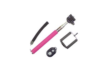 Bluetooth Remote Control Selfie Stick Monopod Extendable Iphone Samsung - Purple