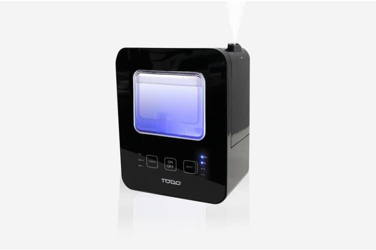 2.5L Air Humidifier Ultrasonic Aromatheraphy Diffuser UV Sterilizer - Black