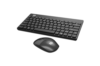 2.4Ghz Wireless Keyboard Optical Mouse Combo Mac Windows Android - Black