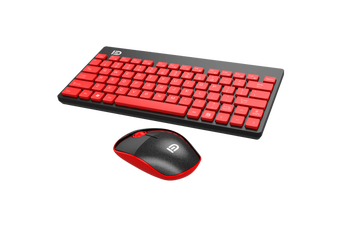 2.4Ghz Wireless Keyboard Optical Mouse Combo Mac Windows Android - Red