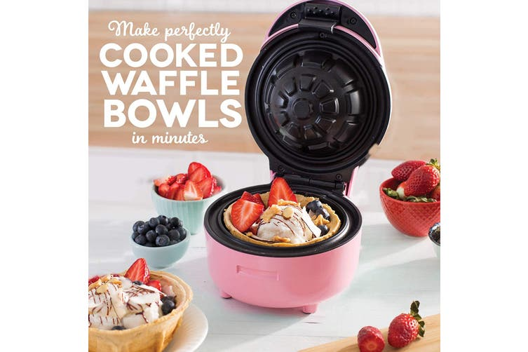 TODO Waffle Bowl Maker Ice Cream Dessert Treat Maker Breakfast Bowl - Pink