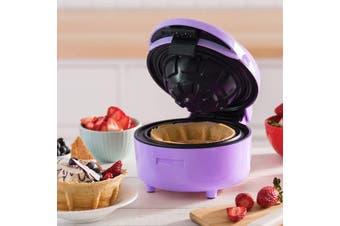 TODO Waffle Bowl Maker Ice Cream Dessert Treat Maker Breakfast Bowl - Purple