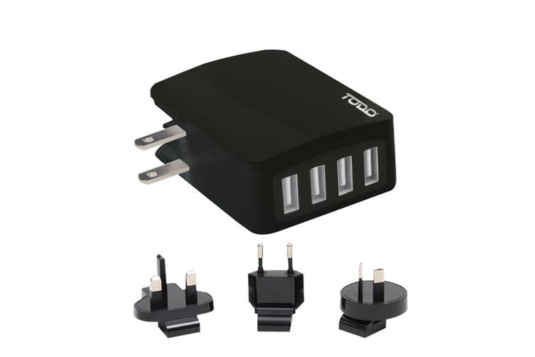 4 Port Usb Universal Travel Charger Adapter Fast Charge 2.4A Au Eu Uk Us Saa Approved
