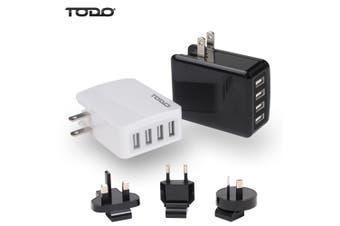 4 Port Usb Universal Travel Charger Adapter Fast Charge Au Eu Uk Us International