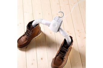 Portable Travel Electric Clothes Hanger Shoe Dryer Drying Rack Compact Folding Carry Bag