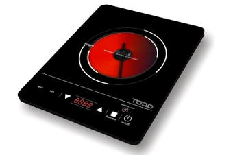 2000W Single Hot Plate Infrared Cooker Tough Glass Cooktop Touch Control