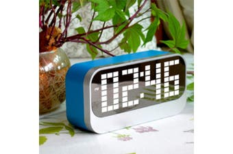 Led Digital Alarm Clock Large Display Usb Powered Blue