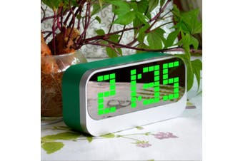 Led Digital Alarm Clock Large Display Usb Powered Green