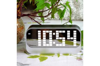 Led Digital Alarm Clock Large Display Usb Powered Grey