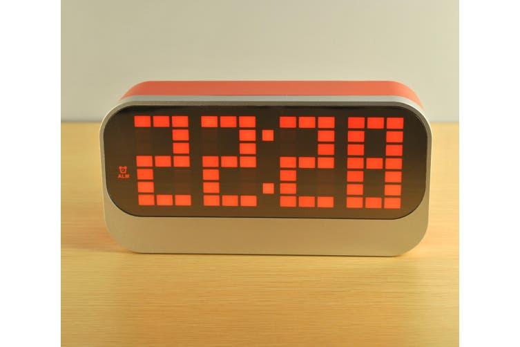 Led Digital Alarm Clock Large Display Usb Powered Red
