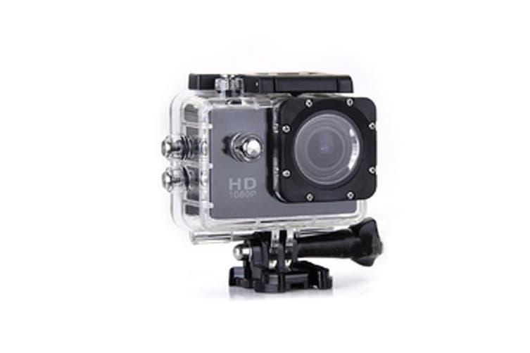 1080P Full Hd Sports Camera 30M Waterproof Loop Rec A9 Black