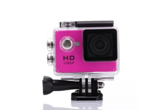 1080P Full Hd Sports Camera 30M Waterproof Loop Rec A9 Action Camera - Pink