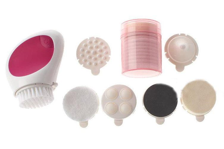 7 In 1 Skin Facial Cleansing Massager Brush Ball Massage Face Beauty Care 7 Head