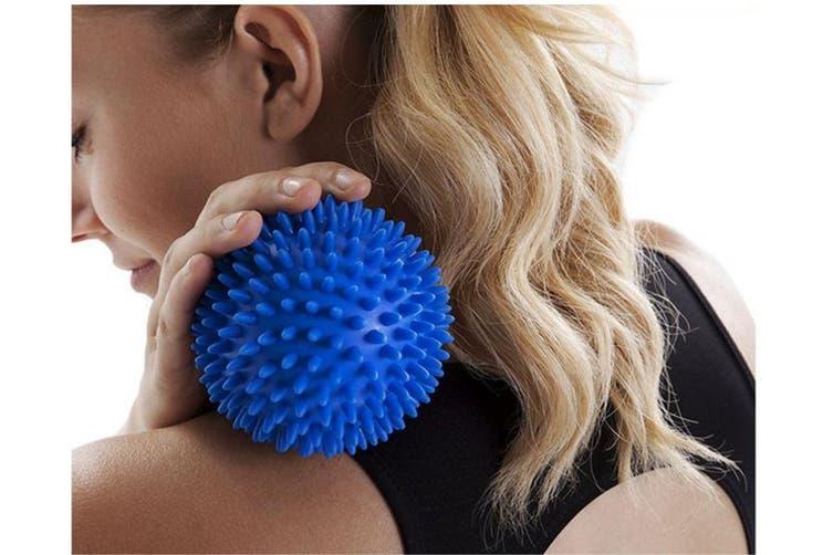 Pvc Hedgehog Fitness Ball Sports Recovery Massage Back Arm Legs Feet Blue