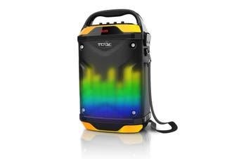 "Bluetooth 6.5"" + 2"" Active Speaker System Portable Dj Pa Usb Microsd Led Light"