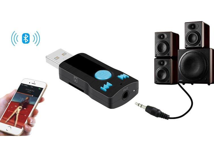 Bluetooth Receiver V3.0 Car Kit Handsfree Phone Link Microsd Mp3 Bc07