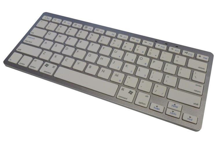 Wireless Bluetooth Keyboard Ipad Iphone Win Mac Linux White Silver Bk3001 Kogan Com