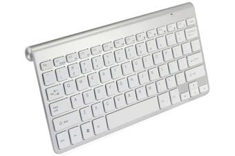 2.4Ghz Wireless Keyboard Nano Usb Receiver Mac Windows Android - Silver White