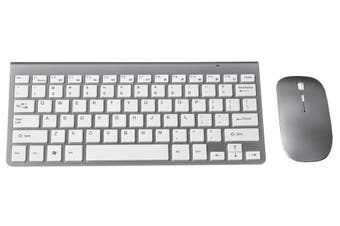 2.4Ghz Wireless Keyboard Optical Mouse Combo Mac Windows Android - Silver