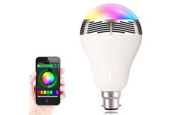 Smart Bluetooth V4.0 Led Light Bayonet Bulb Music Speaker Iphone Android App