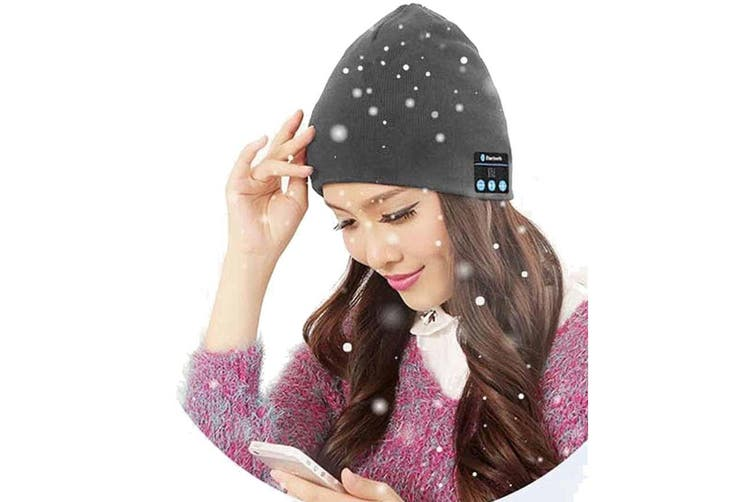 Beanie Knitted Hat Grey