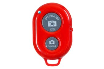 Bluetooth Camera Shutter Remote Control Self Timer Release Ios Android Red