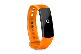 "Bluetooth V4.0 Fitness Watch Band Heart Rate Blood Pressure Ip67 0.91"" Oled - Orange"