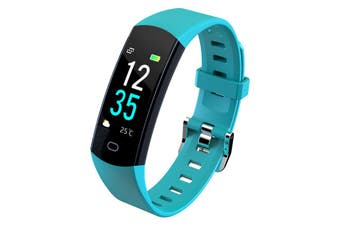 "Bluetooth V4.0 Fitness Band Watch Heart Rate Activity Monitor IP67 0.96"" OLED - Green"