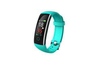"Bluetooth V4.0 Fitness Band Watch Heart Rate Blood Pressure IP68 0.96"" OLED - Green"