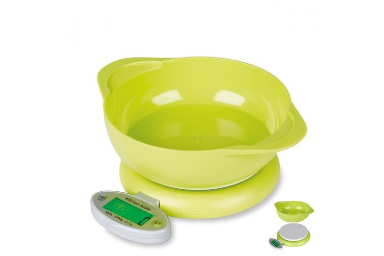 5Kg Kitchen Scale W/ Bowl Lcd Display 1G Graduation Medicinal Tray Platform Scale