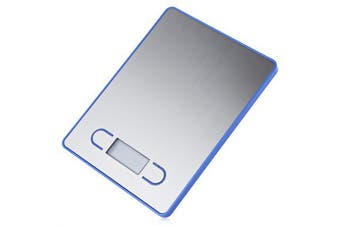 5Kg Stainless Steel Electronic Kitchen Scale 1G Graduation Backlit Lcd 5000G - Blue