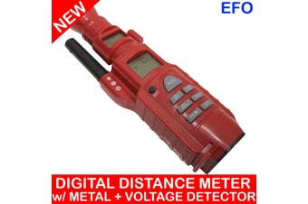 4 In 1 Ultrasonic Distance Meter Laser Metal Stud Ac Voltage Detector Cb-1009