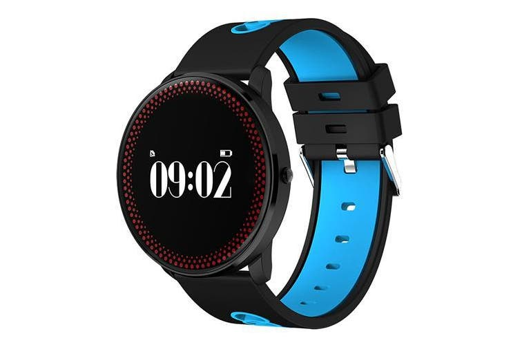 "Bluetooth V4.0 Smart Watch 0.96"" Oled Heart Rate Blood Oxygen Blue"