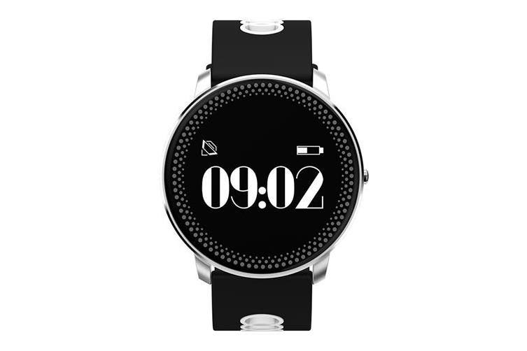 """Bluetooth V4.0 Smart Watch 0.96"""" Oled Heart Rate Blood Oxygen Grey Silver"""