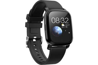"Bluetooth V5.0 Smart Watch Gps Track Heart Rate Blood Pressure 1.3"" - Black"