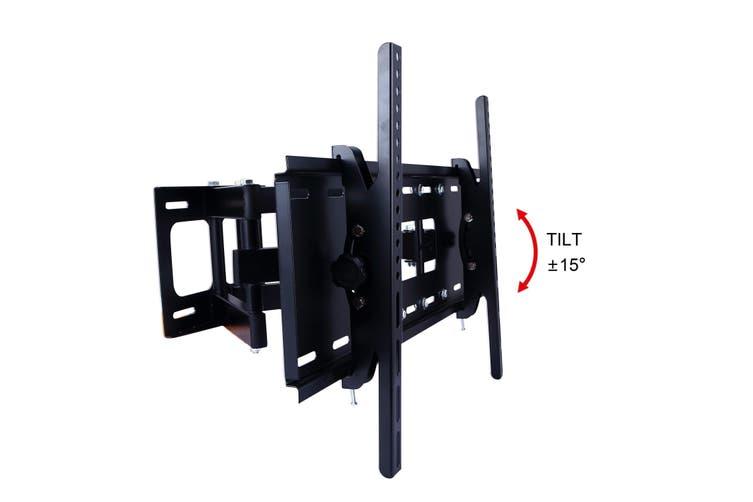 """32"""" - 70"""" Tv Wall Mount Bracket Dual Arm W/ 30° Tilt 120° Swivel Vesa Compliant"""