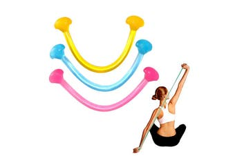 U Shape Exercise Band Gym Strength Trainer Resistance Band Silicone Jelly Rubber