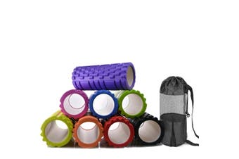 Physio Pilates EVA PVC Foam Yoga Roller Carry Bag Gym Back Training Exercise Massage 33cm x 14cm