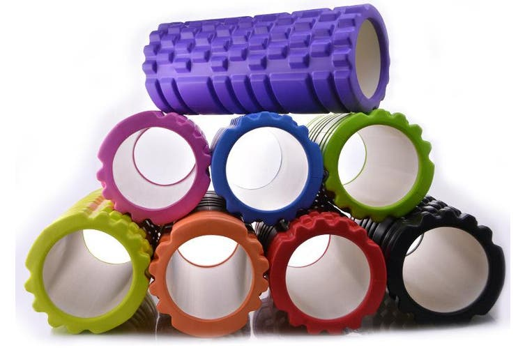 Physio Pilates EVA PVC Foam Yoga Roller Gym Back Training Exercise Massage Grid 33cm x 14cm